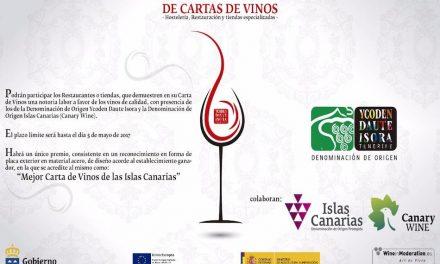 """CONVOCADO EL XIV CONCURSO REGIONAL DE """"CARTAS DE VINOS DE CANARIAS"""" PARA HOSTELERÍA, RESTAURACIÓN Y TIENDAS ESPECIALIZADAS"""