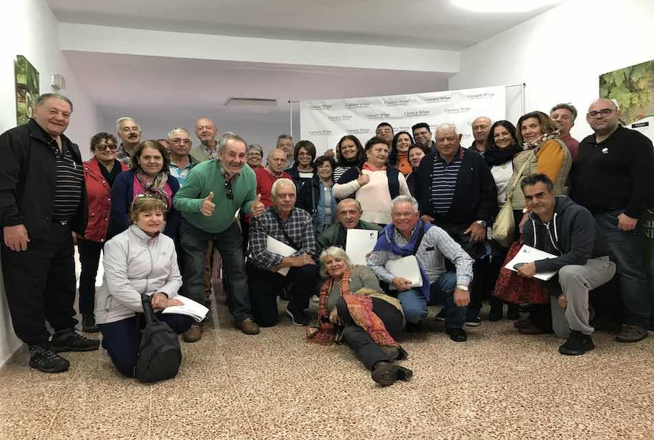 LA ASOCIACIÓN VITIVINÍCOLA DE TEGUESTE (AVITE) VISITA CANARY WINE