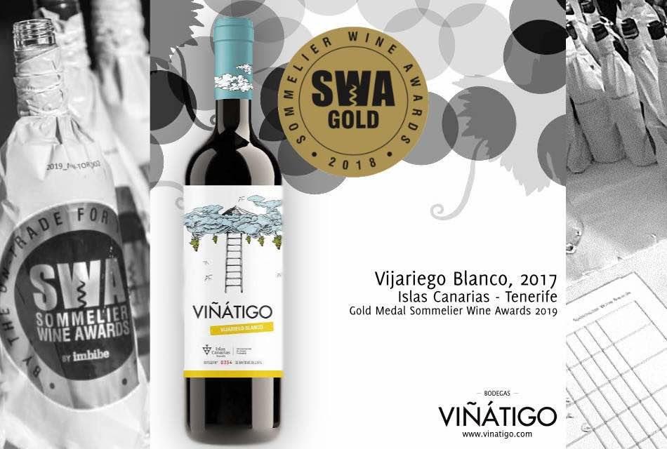 VIÑÁTIGO VIJARIEGO BLANCO 2017, MEDALLA DE ORO EN EL UK's SOMMELIER WINE AWARDS 2019