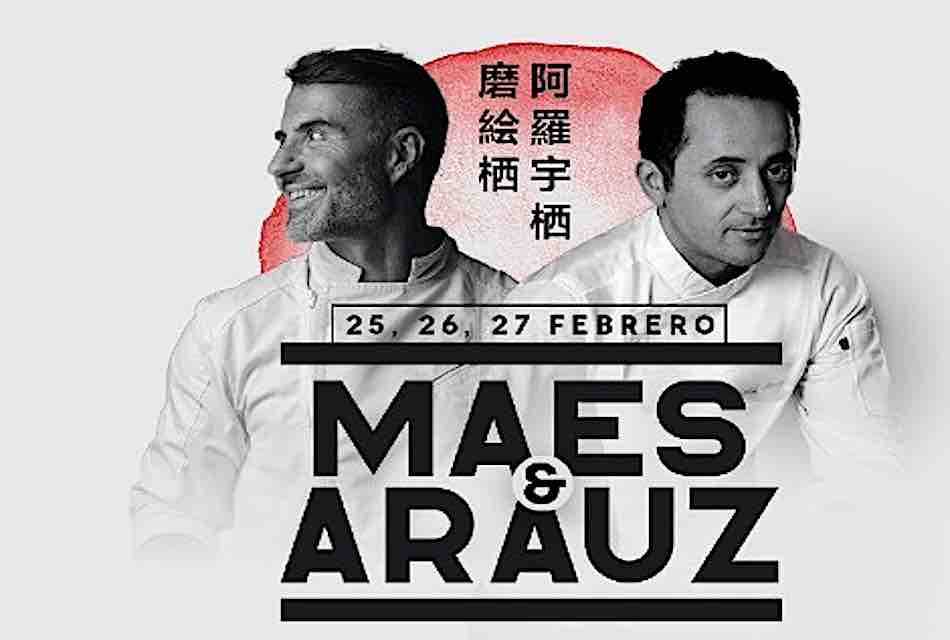 MAES & ARAUZ: 3 CENAS, 4 MANOS Y 12 PLATOS